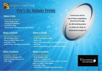 Pro's Six Nations Events